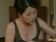 Hot Japanese couple having sex while their neighbor watches