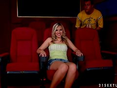 Stunning Chrystal Lee gets fucked in a cinema hall