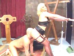 Horny Christian XXX is forced to give Pheonix Marie a lusty ass worship or faced getting punished!