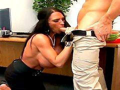 Hungry Johnny Sins has never tasted massive tits before and Lisa Lipps has just the right ones for him!