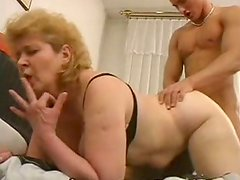Emotional blond old bag Iren gets her quim fucked missionary