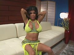 Busty trash Alexis Amore gives deepthroat blowjob