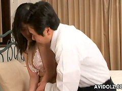 Seductive Japanese woman is having a passionate sex with a lover