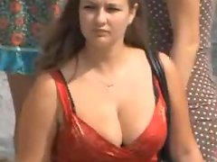 The city is so full of babes with some huge tits