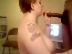 Tattooed amateur gets drenched with thick cum