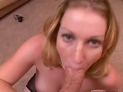 Gal shafts huge tackle close to boobs and Waits To have the Nice cumshot