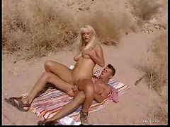 Ass pounded blonde lady outdoors
