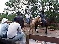 Cowboys Watching Hot Couple fucking in Farm