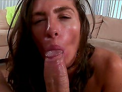 Check out with delicious juicy chocolate babe Naomi and her blowjob show