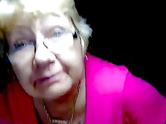 Granny showing tits front cam