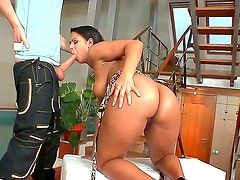 Amazing interracial action with a sexy babe Izabella Christyn and Mark Zicha
