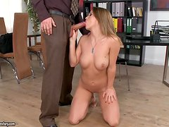 Secretary Kitty Cat serves her boss with passion