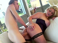 Look at mind-blowing blonde milf Ashley Downs seducing young Danny D
