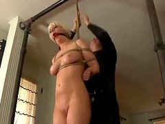 Naughty blond  Cherry  is about to cry from pain