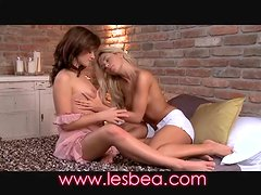 Lesbea Ripe and fresh young teen pussies opened up