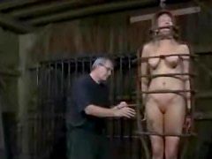 Slave Rain de Gray gets her tits squeezed till they turn purple
