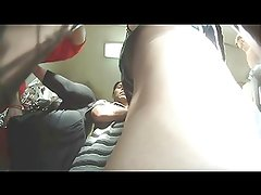 upskirt girl spots camera and some guy gets his nutsack out