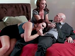 Johnny Sins is banging with two