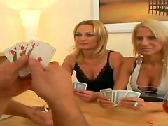 Angie Blond, Renato and Stella Baby are having intense stimulation during naughty poker game
