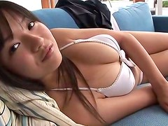 Sexy japanese model Genjoshi is showing off her body on a casting