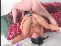 A loose and lubed asshole gets fucked