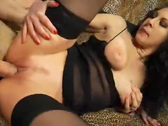 Big cock fucks the stockings girl where she needs