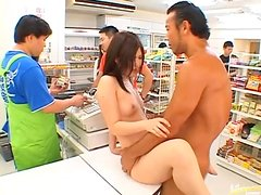 Hot Asian Babe Getting Banged in Public in Store Where 0 Fucks are Given