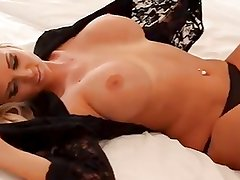 Busty Cara Brett on Bed