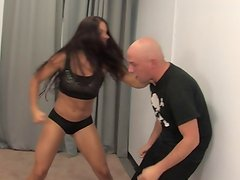 Mixed Fighting and Femdom Beatdown by Skylar