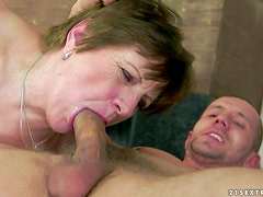 Piros is a mature sex addict. This hot granny gives