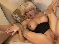 Busty cougar Lexi Carrington is fucking passionately upskirt