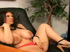 Busty Daphne Rosen gets nailed and made to swallow by hunk Billy Glide,