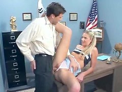 Principal fucks the naughty girl in her cunt
