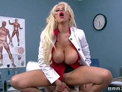 Busty lady doctor Holly Brooks is a sex starved MILF