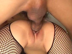 Sex hungry Japanese whore Haruka gets pounded in doggy style