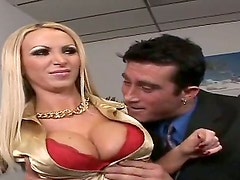 Nikki Benz is a good worker, but sometimes she gets naughty at work and her boss, Billy