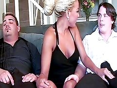Husband watches as she fucks another dude