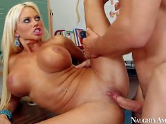 Busty milf Nikita Von James is a long haired gorgeous