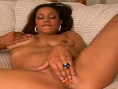 While perverted husband of sexy babe Shyla, Reno is filming his amazing wife masturbating, young